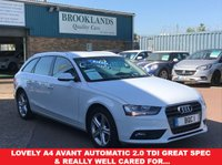 USED 2013 13 AUDI A4 2.0 AVANT TDI SE TECHNIK Automatic 148 BHP SAT NAV White Black Leather Lovely A4 Avant Automatic 2.0 TDi Great Spec & Really well cared for...