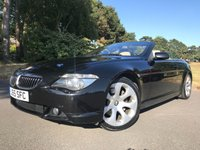 USED 2004 04 BMW 6 SERIES 4.4 645CI 2d AUTO 329 BHP CONVERTIBLE, NICE SPEC, GREAT COLOUR COMBO BLACK EXTERIOR CREAM INTERIOR, SUMMERS HERE!!!