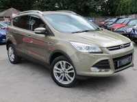 USED 2015 15 FORD KUGA 1.5 TITANIUM X 5d AUTO 180 BHP 1 OWNER, LEATHER HEATED SEATS, OPENING GLASS ROOF