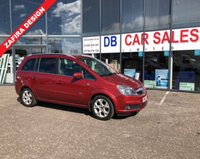 USED 2006 06 VAUXHALL ZAFIRA 1.8 DESIGN 16V 5d 140 BHP NO DEPOSIT AVAILABLE, DRIVE AWAY TODAY!!