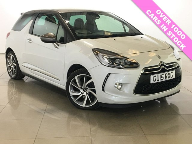 View our 2015 15 CITROEN DS3 1.6 DSTYLE TECHNO 3d 156 BHP