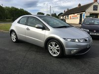 2010 HONDA CIVIC 2.2 I-CTDI EX 5 DOOR NAV,LEATHER 81000 MILES VERY CLEAN EXAMPLE  £4495.00