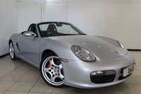 USED 2006 06 PORSCHE BOXSTER 3.2 24V S 2DR 280 BHP HEATED LEATHER SEATS + PARKING SENSOR + BOSE SOUND SYSTEM + CLIMATE CONTROL + 19 INCH ALLOY WHEELS