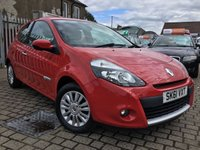 USED 2011 61 RENAULT CLIO 1.1 I-MUSIC 3d 75 BHP PRICE INCLUDES A 6 MONTH RAC WARRANTY, 1 YEARS MOT WITH 12 MONTHS FREE BREAKDOWN COVER