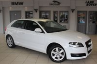 USED 2009 58 AUDI A3 1.6 MPI SE 3d 101 BHP FULL SERVICE HISTORY + RADIO/CD + 16 INCH ALLOYS + AIR CONDITIONING + ELECTRIC WINDOWS