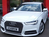 USED 2015 15 AUDI A6 SALOON 2.0 TDI ULTRA S LINE 4d 190 S/S NEW SHAPE, SAT NAV, FULL BLACK LEATHER, DAB RADIO, BLUETOOTH PHONE & MUSIC STREAMING, AUDI MUSIC INTERFACE FOR IPOD / USB DEVICES (AMI), FRONT & REAR PARKING SENSORS WITH DISPLAY, LED XENON LIGHTS,  18 INCH TWIN 5 SPOKE ALLOYS, S LINE BODY KIT, TWIN EXHAUST, CRUISE CONTROL, SPORT SEATS WITH ELECTRIC LUMBAR SUPPORT, LIGHT & RAIN SENSORS WITH AUTO DIMMING REAR VIEW MIRROR, AUTO HOLD, LEATHER MULTIFUNCTION STEERING WHEEL, 1 OWNER FROM NEW, SERVICE HISTORY, £30 ROAD TAX