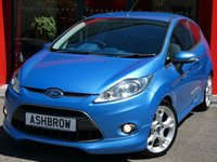 USED 2009 09 FORD FIESTA 1.6 ZETEC S 3d 118 BHP REAR PARKING SENSORS, BLUETOOTH PHONE, MANUAL 5 SPEED GEARBOX, FRONT FOG LIGHTS, FULL ZETEC S BODY KIT INCLUDING REAR SPOILER, 17 INCH 5 ARM ALLOY WHEELS, TINTED GLASS, GREY / BLUE CLOTH INTERIOR, SPORTS SEATS, LEATHER MULTIFUNCTION STEERING WHEEL, AIR CONDITIONING, HEATED FRONT SCREEN, CD HIFI, AUX INPUT, ELECTRIC FOLDING DOOR MIRRORS, ELECTRIC WINDOWS, REMOTE CENTRAL LOCKING, TRACTION CONTROL, ISO FIX, FOLDING REAR SEATS, 3x 3 POINT REAR SEAT BELTS.  SERVICE HISTORY, HPI CLEAR, PX TO CLEAR