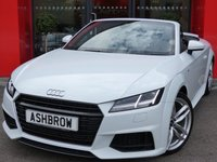 USED 2015 15 AUDI TT ROADSTER 2.0 TFSI S LINE 2d 230 S/S UPGRADE 19 IN TWIN 5 SPOKE ALLOYS, UPGRADE HEATED FRONT SEATS, UPGRADE S LINE SPORTS SUSPENSION, UPGRADE MMI NAVIGATION SYSTEM, UPGRADE ELECTRONIC CLIMATE CONTROL, UPGRADE PARKING SYSTEM REAR, UPGRADE WINDSCREEN SUNBAND, UPGRADE AUTO DIMMING REAR VIEW MIRROR, UPGRADE STORAGE PACK, UPGRADE LEATHER PACK, UPGRADE INTERIOR LIGHTING PACK INC LED INT LIGHTS + LED FOOTWELL LIGHTS, AUDI ACTIVE LANE ASSIST, DIGITAL DASH W/ NAV, AUDI DRIVE SELECT, LED HEADLIGHTS W/ LED DRL + HIGH BEAM ASSIST, DIRECTIONAL