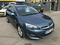 2014 VAUXHALL ASTRA 2.0 SRI CDTI S/S 5 DOOR ESTATE 163 BHP IN METALLIC BLUE WITH ONLY 36000 MILES £7299.00
