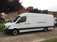 USED 2015 15 MERCEDES-BENZ SPRINTER 2.1 313CDI XLWB HIGH ROOF 130BHP. RARE 4.8 METERS LONG. PX RARE VAN. IDEAL CAMPER OR MOTOCROSS. FINANCE. PX