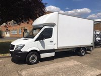 USED 2017 17 MERCEDES-BENZ SPRINTER 2.1 314CDI LWB LUTON TAIL LIFT 140BHP. 2 YEAR'S MERCEDES WARRANTY MERCEDES WARRANTY 06/2020. LOW RATE FINANCE. PX