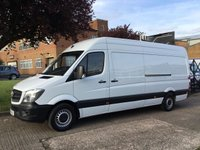 USED 2015 15 MERCEDES-BENZ SPRINTER 2.1 313CDI LWB HIGH ROOF 130BHP. 1 OWNER. EX MERC LEASE. 0% DEPOSIT FINANCE. PX WELCOME. 1 OWNER.