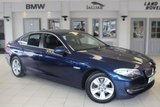 """USED 2013 13 BMW 5 SERIES 2.0 520D EFFICIENTDYNAMICS 4d 181 BHP FULL LEATHER SEATS + FULL SERVICE HISTORY + PRO NAV + DAB RADIO + HEATED FRONT SEATS + BLUETOOTH + CRUISE CONTROL + AIR CON + 17"""" ALLOYS"""