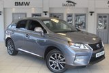 """USED 2014 63 LEXUS RX 3.5 450H F SPORT 5d AUTO 295 BHP FULL BLEACK LEATHER SEATS + FULL SERVICE HISTORY + SAT NAV + DAB RADIO + HEADS UP DISPLAY + HEATED FRONT SEATS + HEATED STEERING WHEEEL + BLETOOTH + CRUISE CONTROL + AIR CON + 19"""" ALLOYS"""
