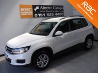 USED 2013 13 VOLKSWAGEN TIGUAN 2.0 S TDI BLUEMOTION TECHNOLOGY 5d 109 BHP GLEAMING WHITE,  DEALER HISTORY, GREAT FAMILY CAR 7 SEATS, PARK ASSIST