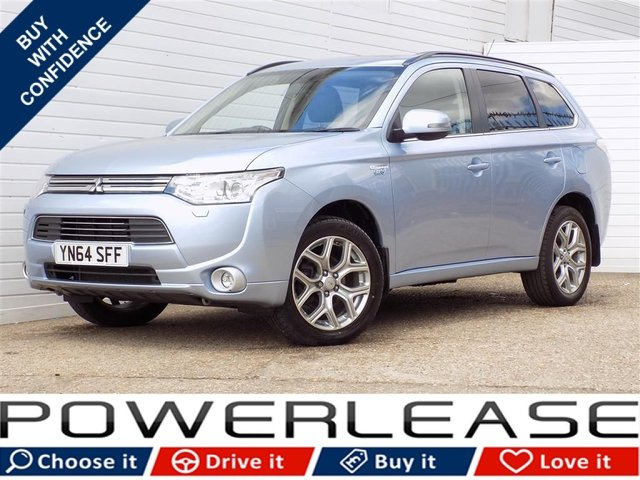 USED 2014 64 MITSUBISHI OUTLANDER 2.0 PHEV GX 4HS 5d AUTO 162 BHP LEATHER SUNROOF SATNAV FREETAX