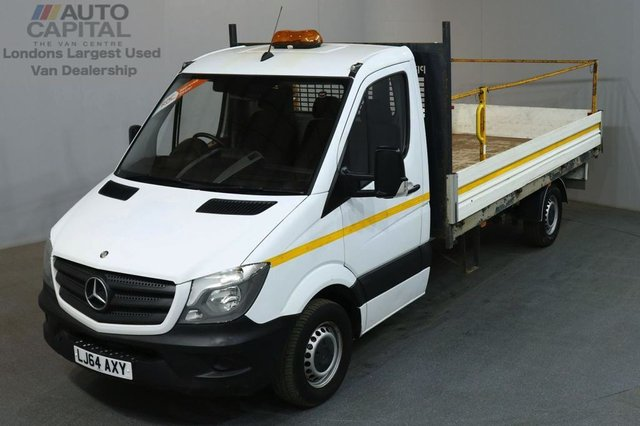2014 64 MERCEDES-BENZ SPRINTER 2.1 313 CDI 129 BHP LWB TWIN WHEEL DROPSIDE LORRY BED LENGTH 13 FOOT AND 6 INCH