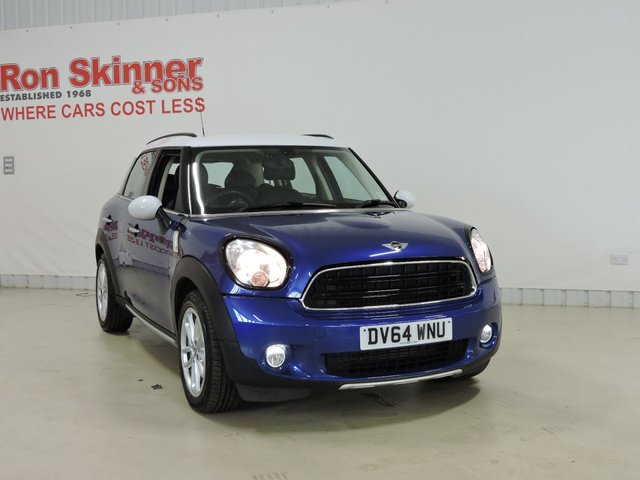View our 2014 64 MINI COUNTRYMAN 1.6 COOPER D ALL4 5d 112 BHP with CHILI Pack + Media Pack + Leather Upholstery