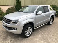 USED 2015 65 VOLKSWAGEN AMAROK 2.0 DC TDI HIGHLINE 4MOTION 1d AUTO 180 BHP REVERSE CAMERA, REAR LID, LEATHER, HEATED SEATS, SAT NAV, 8 SPEED AUTO