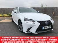 2016 LEXUS GS 2.5 300H F SPORT 4d AUTO 178 BHP £24850.00