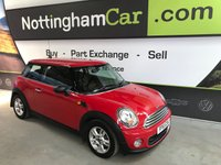 USED 2011 61 MINI HATCH ONE 1.6 ONE 3d 98 BHP