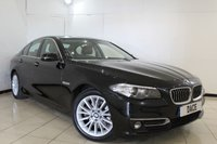 USED 2016 66 BMW 5 SERIES 2.0 520D LUXURY 4DR AUTOMATIC 188 BHP FULL BMW SERVICE HISTORY + 1 OWNER FROM NEW + HEATED LEATHER SEATS + SAT NAVIGATION + BLUETOOTH + PARKING SENSOR + CRUISE CONTROL + MULTI FUNCTION WHEEL + CLIMATE CONTROL + 18 INCH ALLOY WHEELS
