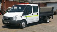 2007 FORD TRANSIT 350 LWB 2.2 35115 DRW 1d 115 BHP CREW CAB TIPPER 1 OWNER F/S/H 2 KEYS 10 STAMPS IN THE SERVICE BOOK  £5990.00