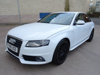 USED 2011 61 AUDI A4 2.0 TDI S LINE 4d 134 BHP 1 PREVIOUS KEEPER ++   FULL YEAR MOT ++   BLUETOOTH ++   FULL LEATHER TRIM ++   PRIVACY GLASS