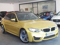 USED 2015 15 BMW M3 3.0 M3 4d AUTO 426 BHP SERVICE PK+AUSTIN YELLOW+