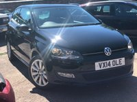 USED 2014 14 VOLKSWAGEN POLO 1.2 MATCH EDITION TDI 3dr  Full VW Service history, £2175 options, Motorway mileage.