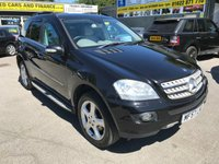 2007 MERCEDES-BENZ M CLASS 3.0 ML280 CDI EDITION S 5 DOOR AUTO 188 BHP IN BLACK WITH GREY LEATHER AND 104000 MILES £5499.00