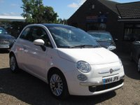 USED 2014 14 FIAT 500 1.2 LOUNGE 3d 69 BHP ONLY £30 ROAD TAX - BLUETOOTH INTERFACE