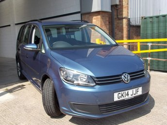 2014 VOLKSWAGEN TOURAN 1.6 S TDI BLUEMOTION TECHNOLOGY DSG 5d AUTO 106 BHP £10450.00