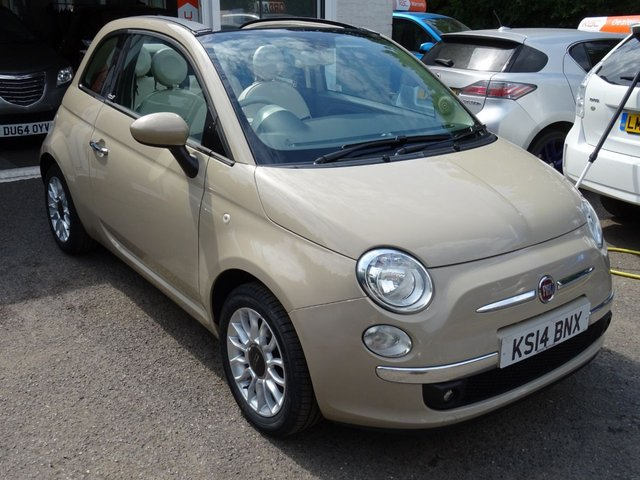 2014 14 FIAT 500 1.2 CONVERTIBLE LOUNGE 3d 69 BHP