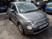 USED 2016 65 FIAT 500 1.2 POP 3d 69 BHP New Shape Model finished in Metallic Grey! Full Service History (Fiat + ourselves), One Lady Owner from new, Minimum 8 months MOT, Great on fuel economy! Only £20 Road Tax!