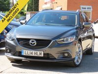 USED 2014 14 MAZDA 6 2.2 D SPORT NAV ESTATE 5d 173 BHP SATELLITE NAVIGATION + FULL LEATHER INTERIOR