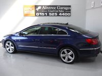 USED 2008 58 VOLKSWAGEN PASSAT 3.6 CC SPORT V6 4MOTION DSG 4d AUTO 298 BHP ASPIRING CLASSIC GLEAMING METALLIC BLUE WITH CREAM LEATHER AMAZING COMBINATION