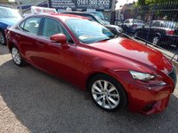 USED 2015 15 LEXUS IS 2.5 300H EXECUTIVE EDITION 4d AUTO 179 BHP BIEGE LEATHER INTERIOR, COLOUR SCREEN SAT NAV , F.S.H, ALLOYS