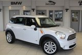 "USED 2013 62 MINI COUNTRYMAN 1.6 COOPER D ALL4 5d 112 BHP HALF LEATHER/CLOTH SEATS + FULL SERVICE HISTORY + PEPPER PACK + BLUETOOTH + DAB RADIO + CRUISE CONTROL + AIR CONDITIONING + 16"" ALLOYS"