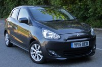 USED 2015 15 MITSUBISHI MIRAGE 1.2 3 5d 79 BHP ONLY 4200 MILES FROM NEW