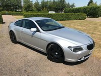 USED 2004 54 BMW 6 SERIES 4.4 645CI 2d AUTO 329 BHP FBMWSH, Just Serviced MOT 05/19 Full BMW + Specialist Service History, MOT 05/19, Just Had £1600 Spent At BMW Main Dealer + Front And Rear Brakes Replaced + Tyres, Front And Rear Parking Sensors, Sat Nav, Auto Lights On, Auto Wipers, Bluetooth, Electric Adjustable Steering Coloumn, Climate Aircon, Heated Seats, Full Black Nappa Leather Upholstery, Electric Memory Seats, DVD Player/Sat Nav, Cruise Control, X2 Keys, Very Very Clean + Straight And Tidy Example, Passionately Maintained, ££££ Spent, Blistering Performance And Handl