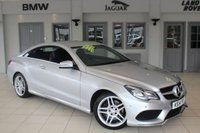 """USED 2014 14 MERCEDES-BENZ E CLASS 3.0 E350 BLUETEC AMG SPORT 2d AUTO 252 BHP FULL ANTHRACITE BLACK LEATHER + FULL SERVICE HISTORY + SAT NAV + HEATED FRONT SEATS + DAB RADIO + BLUETOOTH + CRUISE CONTROL + AIR CONDITIONING + 18"""" ALLOYS"""