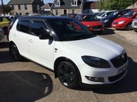 USED 2012 62 SKODA FABIA 1.6 MONTE CARLO TDI CR 5d 105 BHP BLACK/ WHITE LIMITED EDITION MODEL