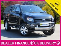 USED 2015 64 FORD RANGER 3.2 TDCI WILDTRAK DOUBLE CAB HARDTOP CANOPY SAT NAV LEATHER HARD TOP CANOPY SAT NAV HEATED LEATHER REVERSE CAM