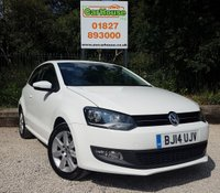 USED 2014 14 VOLKSWAGEN POLO 1.2 MATCH EDITION 3dr Cruise, Bluetooth, FVWSH