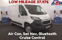 USED 2016 65 PEUGEOT BOXER 2.2 HDI 333 L1H1 PROFESSIONAL 110 BHP ( Citroen Relay Ent ) Air Con, Low Mileage , Bluetooth, Sat Nav, Cruise Control **Drive Away Today** Over The Phone Low Rate Finance Available, Just Call us on 01709 866668