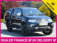 USED 2015 15 MITSUBISHI L200 2.5 DI-D BARBARIAN BLACK LWB DOUBLE CAB CANOPY SAT NAV HARD TOP CANOPY SAT NAV REVERSE CAM HEATED LEATHER