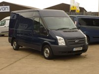 2013 FORD TRANSIT 2.2TDCi  T300 MWB M/ROOF   125 BHP WITH RACKING AND WORK BENCH INTHE BACK £7995.00