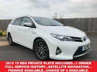 2015 TOYOTA AURIS 1.8 VVT-I ICON PLUS 5d AUTO 98 BHP £13985.00