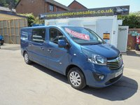 2016 VAUXHALL VIVARO BI TURBO DIESEL CDTI SPORTIVE  120 BHP SIX SPEED  6 SEATER DOUBLE CAB LONG WHEEL BASE , BIG SCREEN  SAT NAV  BLUE TOOTH  AIR CON  FULL VAUXHALL MAIN DEALER  SERVICE HISTORY. £10995.00